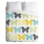Patterned Butterflies Duvet Cover