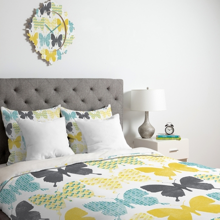Patterned Butterflies Luxe Duvet Cover