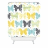 Patterned Butterflies Shower Curtain