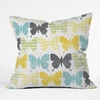 Patterned Butterflies Throw Pillow