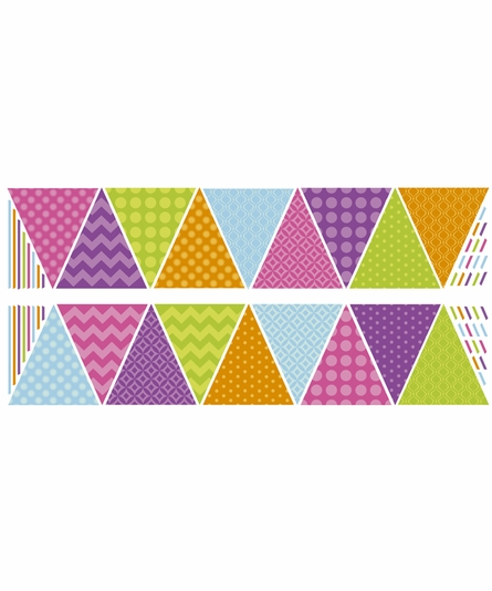 Patterned Pennants Wall Decals