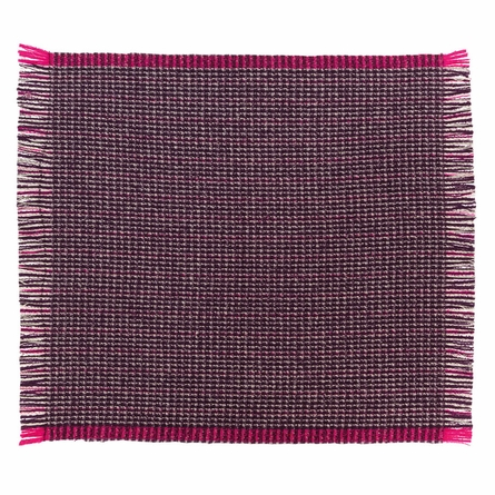 Pavonazzo Aubergine Throw Blanket