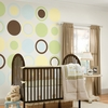 Pea Pod Green Baby Concentric Dot Wall Decals