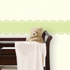 Pea Pod Green Baby Scalloped Stripe Wall Decal
