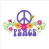 Peace & Flowers Small Paint by Number Wall Mural