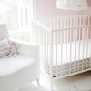 Peace, Love & Pink Bumperless Crib Sheet