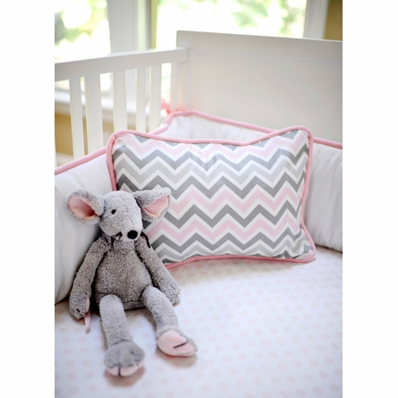 Peace, Love & Pink Crib Bedding Set