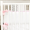 Peace, Love & Pink Crib Bumper