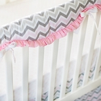 Peace, Love & Pink Crib Rail Cover