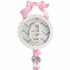 Peace, Love & Pink Monogram Barrette Holder