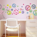 Peace Out Wall Decals
