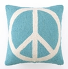 Peace Sign Light Blue Hook Pillow