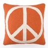 Peace Sign Orange Hook Pillow