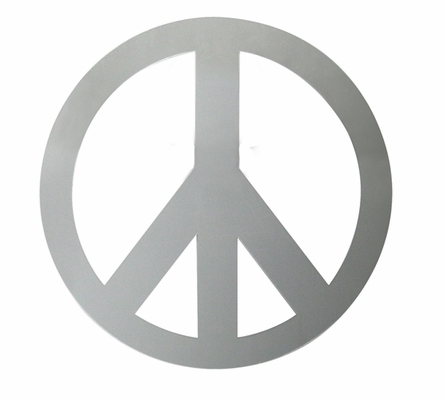 Peace Sign Peel & Stick Mirror