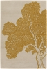 Peaceful Branches in Goldenrod Thomaspaul Rug