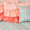 Peach Ruffle Pillow Sham