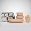 Peaches and Cream Stainless Steel Dishware Set