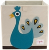 Peacock Canvas Storage Box
