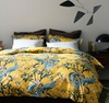Peacock Duvet Cover in Citrine