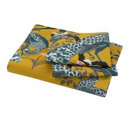Peacock Duvet Set in Citrine