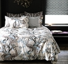 Peacock Duvet Cover in Dove