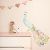 Peacock Plumage Fabric Wall Decals