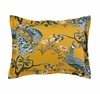 Peacock Pillow Sham Pair in Citrine