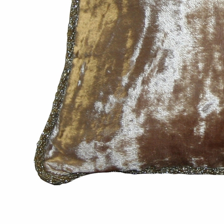 Pearl Chic Velvet Beaded Throw Pillow
