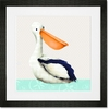 Pearl the Pelican Framed Art Print