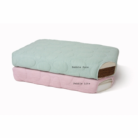 Pebble Lite Crib Mattress in Blush
