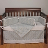 Pebbles Sky Blue Crib Bedding Set