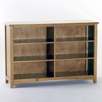 Pecan School House Horizontal Bookcase