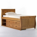 Pecan School House Sleigh Bed