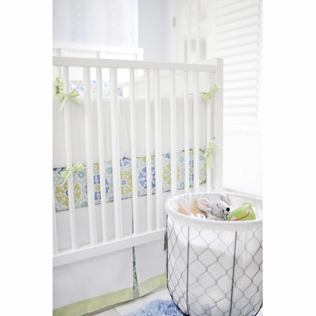 Pedal Pusher in Blue Crib Bedding Set