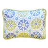 Pedal Pusher in Blue Throw Pillow