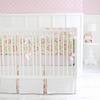 Pedal Pusher in Pink Crib Bedding Set