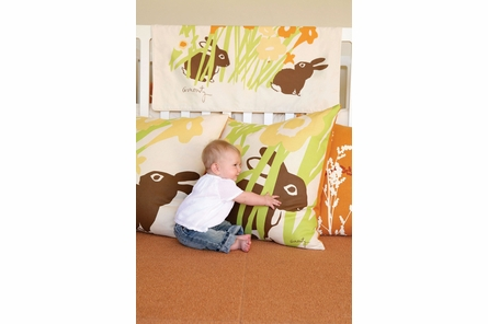 Peeking Bunny Floor Pillow