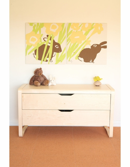Peeking Bunny Organic Cotton Wall Print