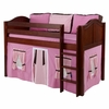 Penelope Low Loft Bed with Hot Pink Tent