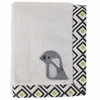 Penguin Plush Applique Baby Blanket