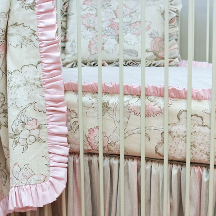 Peony Bumperless Crib Sheet