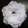 Peony Glimmer White Blooming Fabric Flower