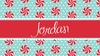 Peppermint Personalized Placemat