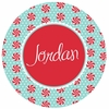 Peppermint Personalized Plate