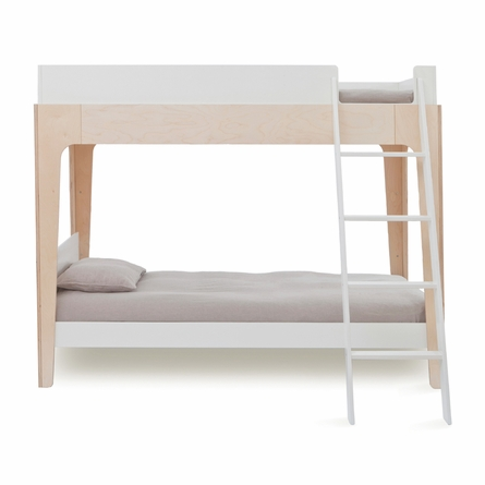 Perch Twin Bunk Bed in White & Birch
