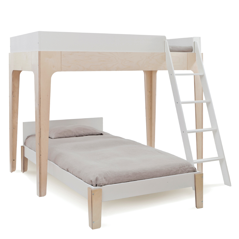 Perch Twin Bunk Bed In White Amp Birch By Oeuf