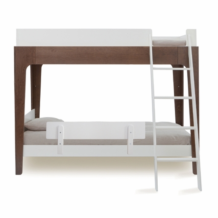 Perch Bunk Bed in White & Walnut