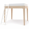 Perch Loft Bed in White and Birch