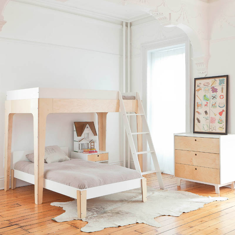 Perch Twin Loft Bed In White And Walnut By Oeuf