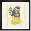 Perched Raccoon Framed Art Print